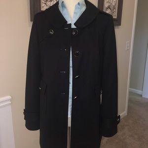 Sold! AT Loft Black Trench Coat SZ 12